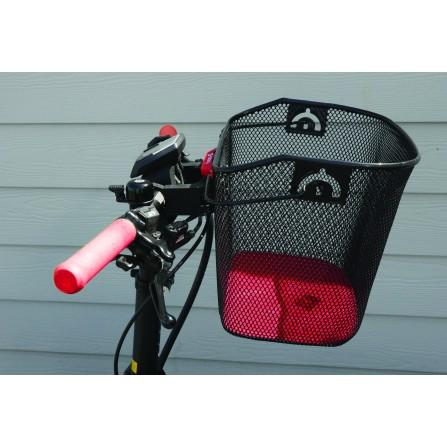 Panier Acier XXL noir  + Fixation MTS3 pour E-Bike