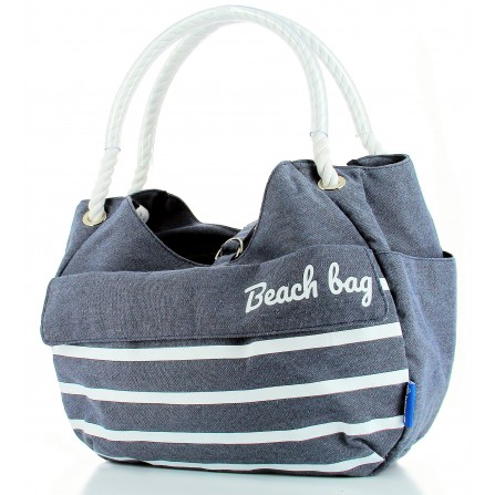 Panier shopping Collection BEACH bleu  fixation Mts 3