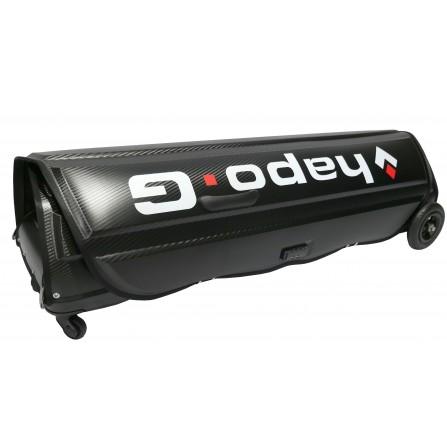 Valise de transport vélo, pliable noire