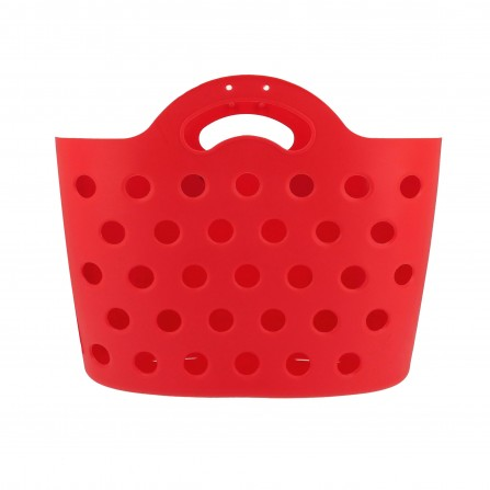 Panier Trendy One fixation porte-bagages rouge