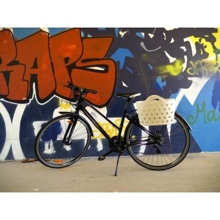Panier Trendy One fixation porte-bagages sable blanc