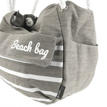 Panier shopping Collection BEACH gris fixation Mts 3